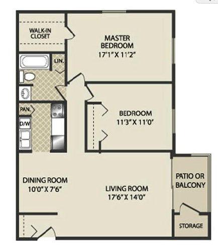 2 Bedrooms 1 Bathroom Apartment for rent at The Pines Apartments & Townhomes in Fitchburg, WI