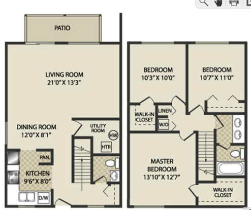 3 Bedrooms 2 Bathrooms Apartment for rent at The Pines Apartments & Townhomes in Fitchburg, WI