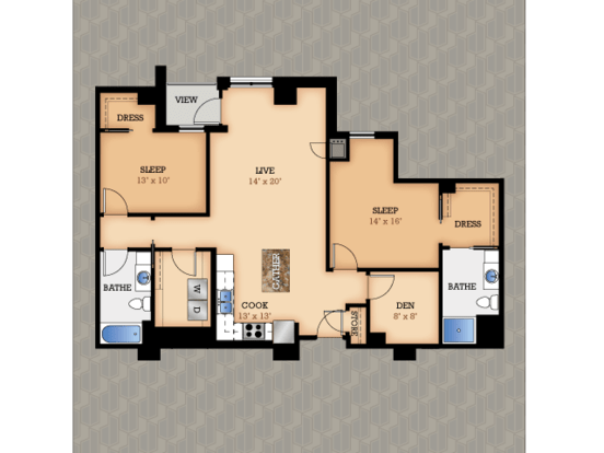 2 Bedrooms 2 Bathrooms Apartment for rent at Domain in Madison, WI