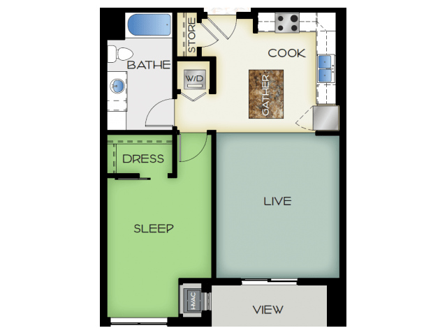 1 Bedroom 1 Bathroom Apartment for rent at 50Twenty in Madison, WI