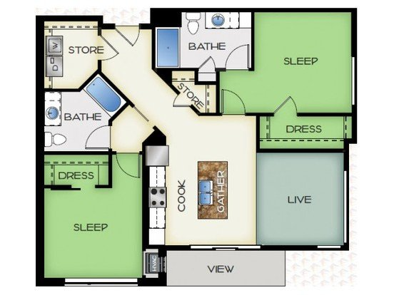 2 Bedrooms 2 Bathrooms Apartment for rent at 50Twenty in Madison, WI