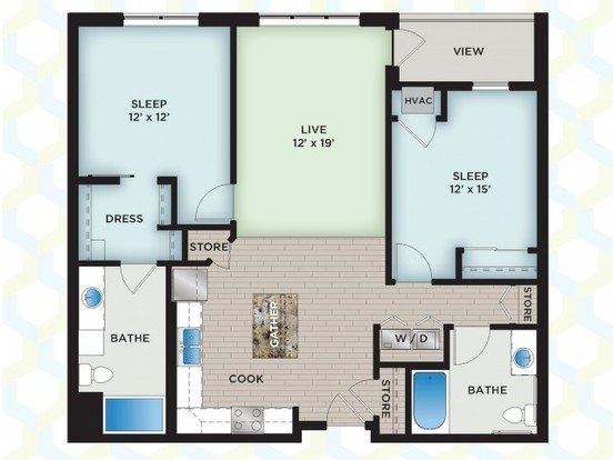 2 Bedrooms 2 Bathrooms Apartment for rent at The Vue in Fitchburg, WI