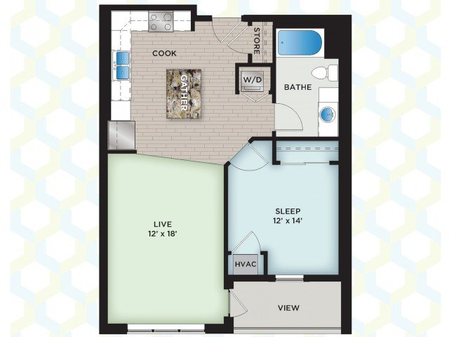 1 Bedroom 1 Bathroom Apartment for rent at The Vue in Fitchburg, WI