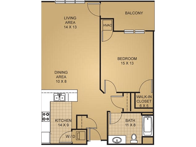 1 Bedroom 1 Bathroom Apartment for rent at Barrington Place in Madison, WI
