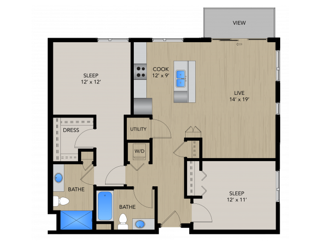 2 Bedrooms 2 Bathrooms Apartment for rent at 1505 Apartments in Grafton, WI
