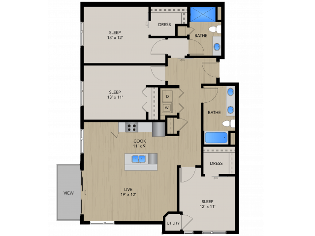 3 Bedrooms 2 Bathrooms Apartment for rent at 1505 Apartments in Grafton, WI
