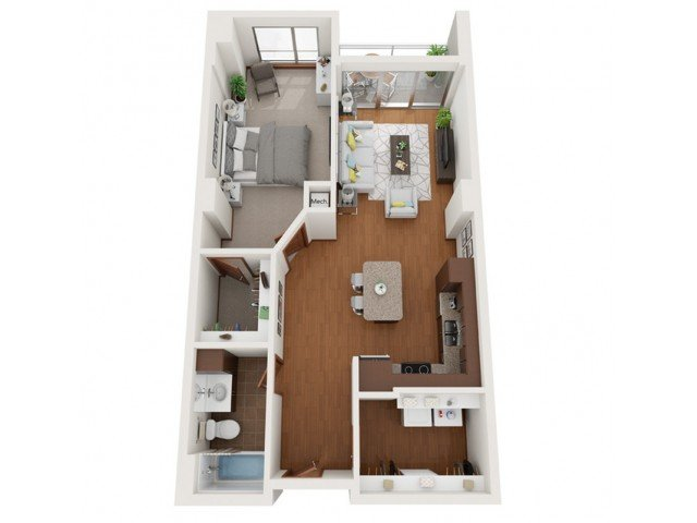 1 Bedroom 1 Bathroom Apartment for rent at Domain in Madison, WI