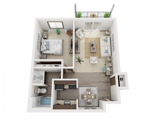 1 Bedroom 1 Bathroom Apartment for rent at Valley View Apartments in Madison, WI