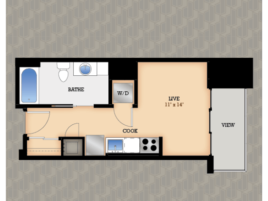 Studio 1 Bathroom Apartment for rent at Domain in Madison, WI