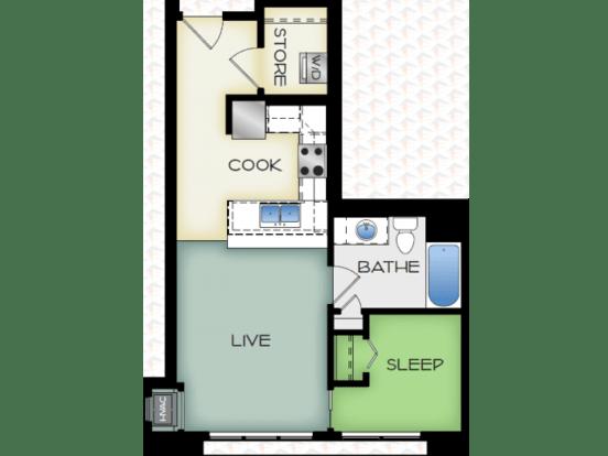 Studio 1 Bathroom Apartment for rent at 50Twenty in Madison, WI