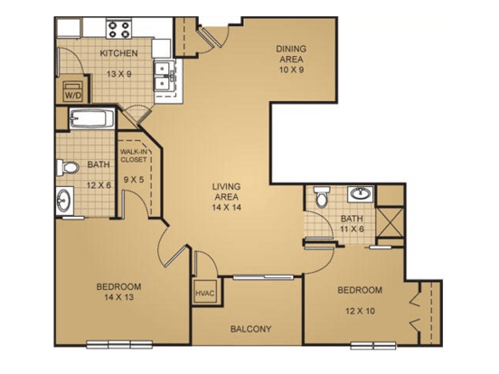 2 Bedrooms 2 Bathrooms Apartment for rent at Barrington Place Apartments in Madison, WI