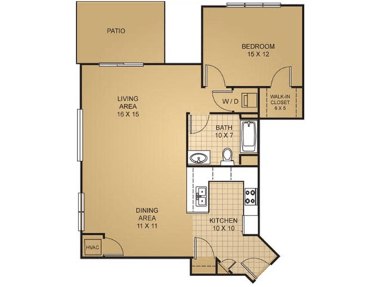 1 Bedroom 1 Bathroom Apartment for rent at Barrington Place Apartments in Madison, WI