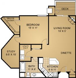 1 Bedroom 1 Bathroom Apartment for rent at The Landmark At Hatchery Hill in Fitchburg, WI