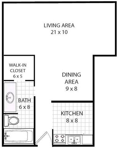Studio 1 Bathroom Apartment for rent at Valley View Apartments in Madison, WI