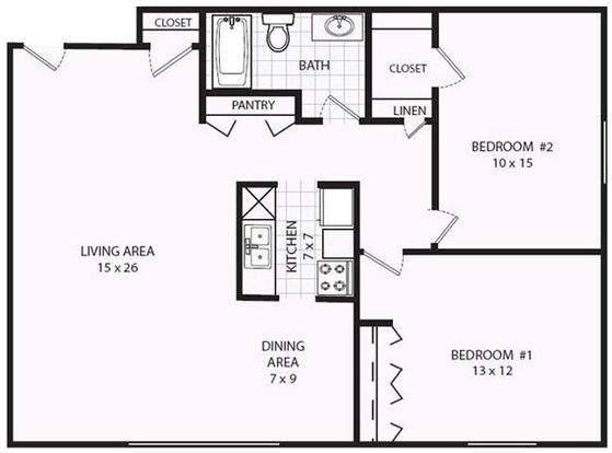 2 Bedrooms 1 Bathroom Apartment for rent at Valley View Apartments in Madison, WI