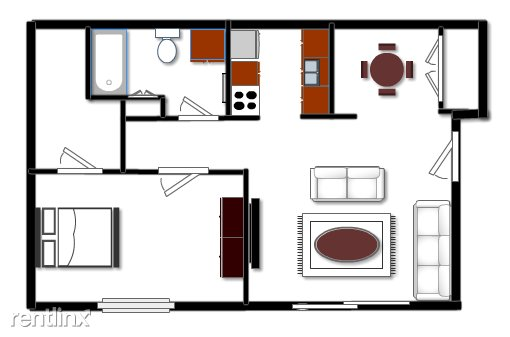 1 Bedroom 1 Bathroom House for rent at Hidden Glen Apartments in Laingsburg, MI