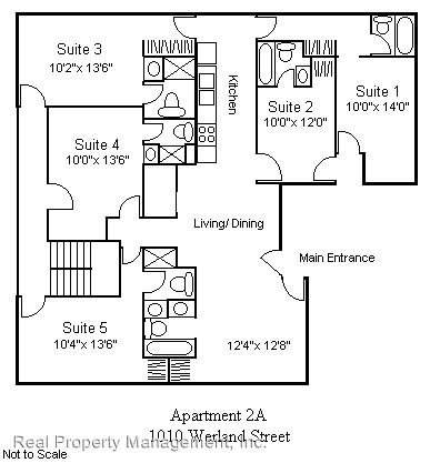 5 Bedrooms 4+ Bathrooms Apartment for rent at 1010 Wertland Street in Charlottesville, VA