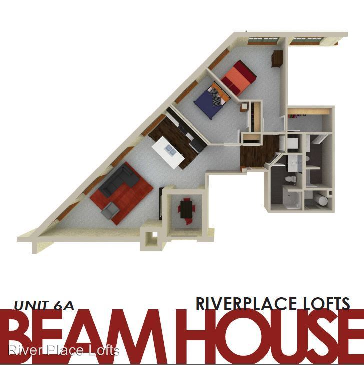 2 Bedrooms 2 Bathrooms Apartment for rent at River Place Lofts in Milwaukee, WI