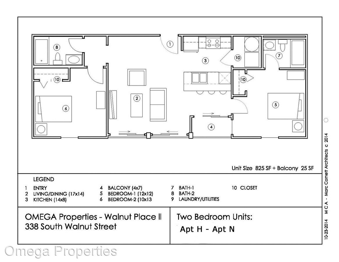 2 Bedrooms 2 Bathrooms Apartment for rent at 338 S. Walnut Street in Bloomington, IN