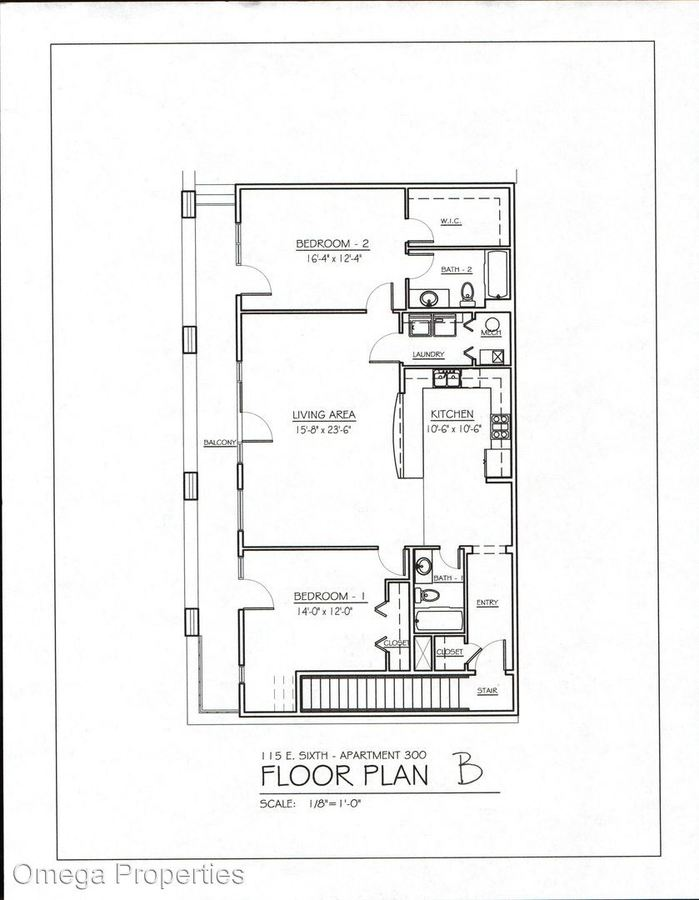 2 Bedrooms 2 Bathrooms Apartment for rent at 115 E 6th St. in Bloomington, IN