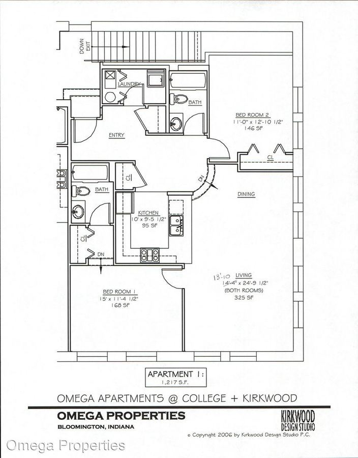 2 Bedrooms 2 Bathrooms Apartment for rent at 103 N. College Ave. in Bloomington, IN