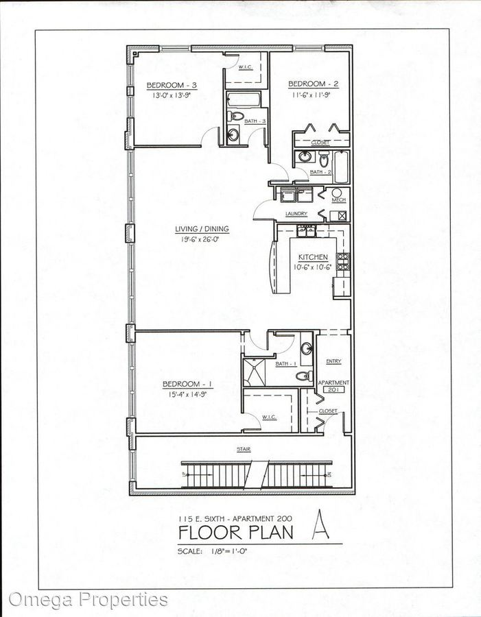 3 Bedrooms 3 Bathrooms Apartment for rent at 115 E 6th St. in Bloomington, IN