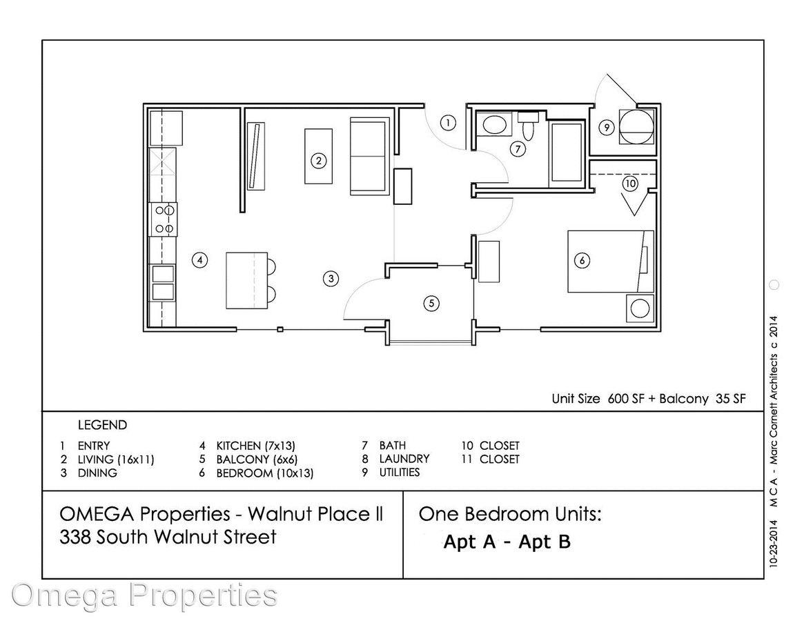 1 Bedroom 1 Bathroom Apartment for rent at 338 S. Walnut Street in Bloomington, IN