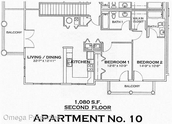 2 Bedrooms 2 Bathrooms Apartment for rent at 302 N. Washington St. in Bloomington, IN