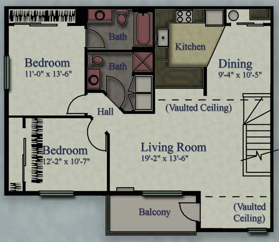 2 Bedrooms 2 Bathrooms Apartment for rent at Maplewood Apartments in Caledonia, WI