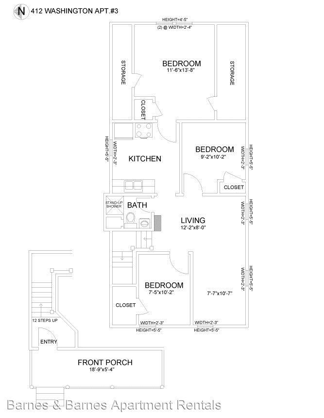 3 Bedrooms 1 Bathroom Apartment for rent at 412 N. Washington St in Ypsilanti, MI