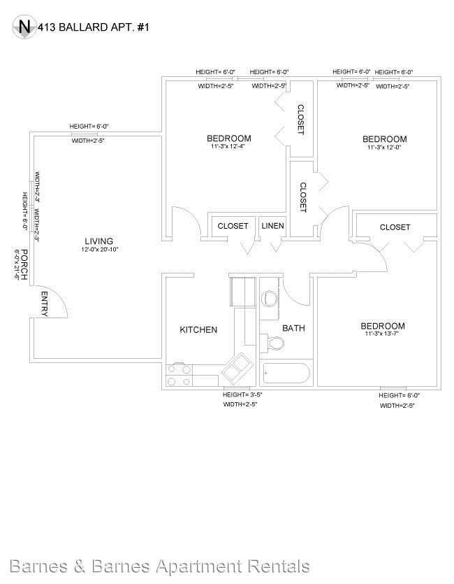 3 Bedrooms 1 Bathroom Apartment for rent at 413 Ballard St in Ypsilanti, MI