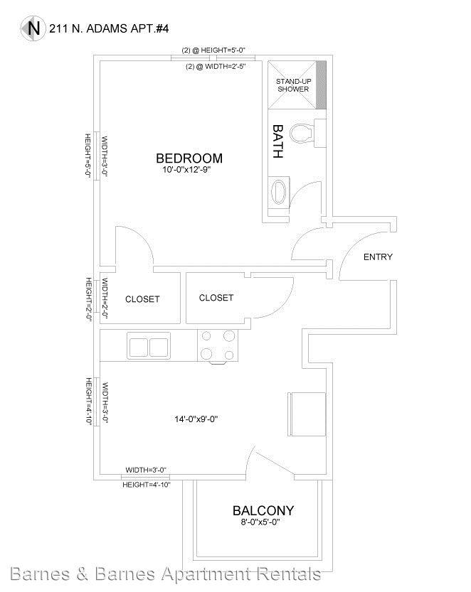 Studio 1 Bathroom Apartment for rent at 211 N. Adams St in Ypsilanti, MI
