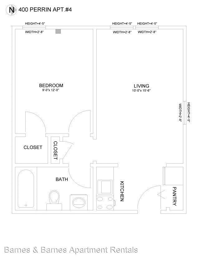 1 Bedroom 1 Bathroom Apartment for rent at 400 Perrin in Ypsilanti, MI