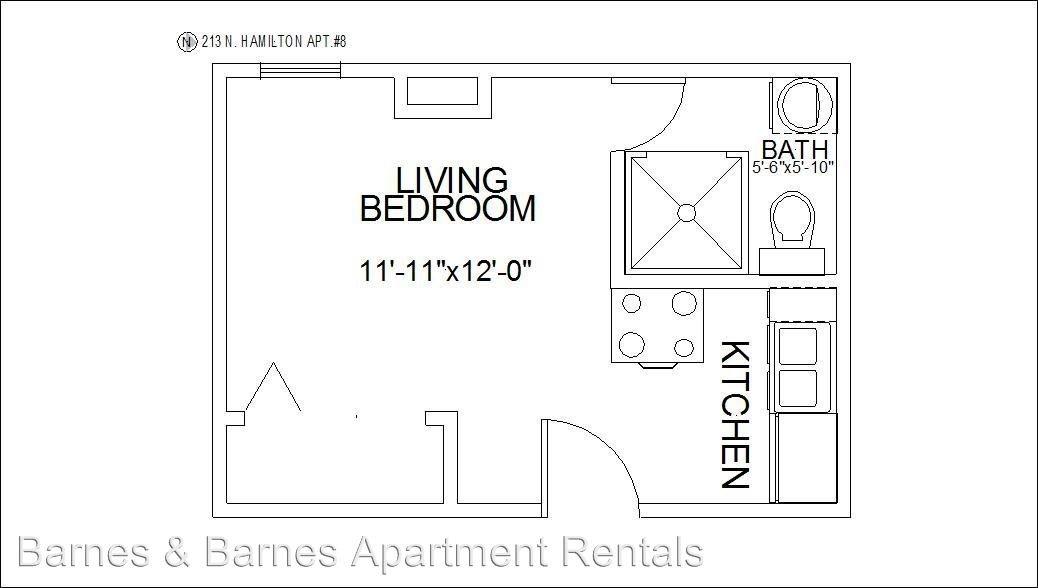 Studio 1 Bathroom Apartment for rent at 213 N. Hamilton St in Ypsilanti, MI