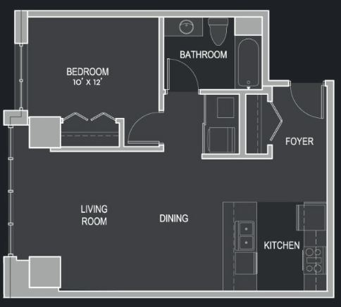 1 Bedroom 1 Bathroom Apartment for rent at The Moderne in Milwaukee, WI