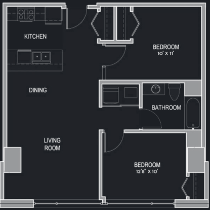 2 Bedrooms 1 Bathroom Apartment for rent at The Moderne in Milwaukee, WI