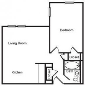 1 Bedroom 1 Bathroom Apartment for rent at Lake Crest Apartments in Milwaukee, WI