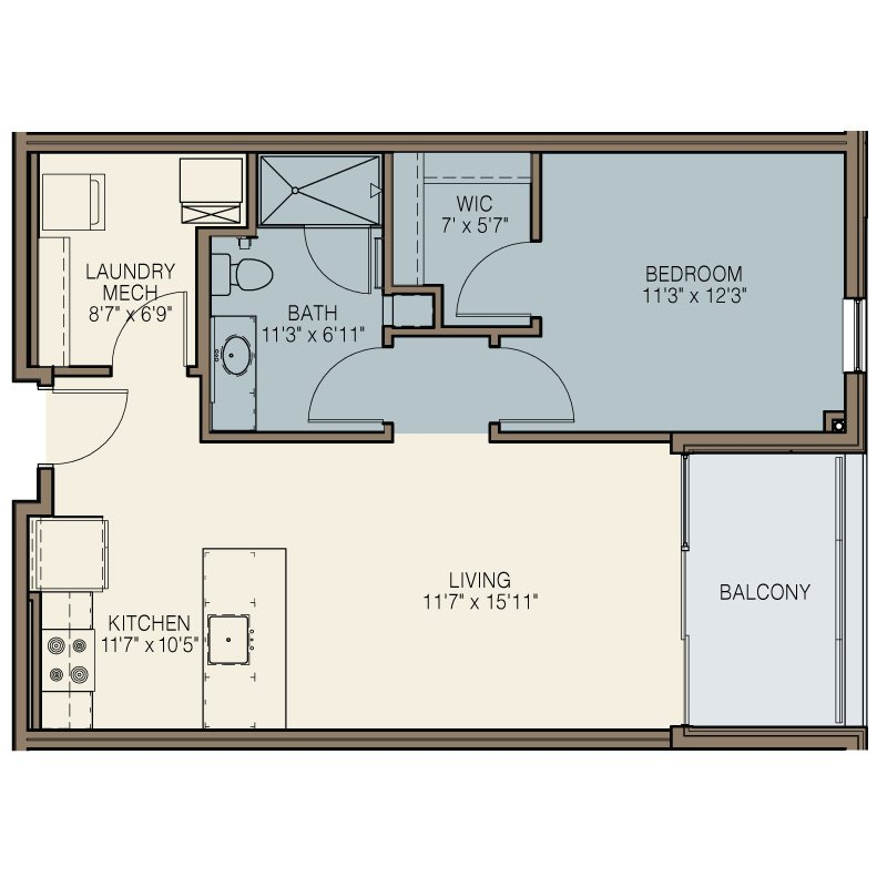 1 Bedroom 1 Bathroom Apartment for rent at The Easton in Milwaukee, WI