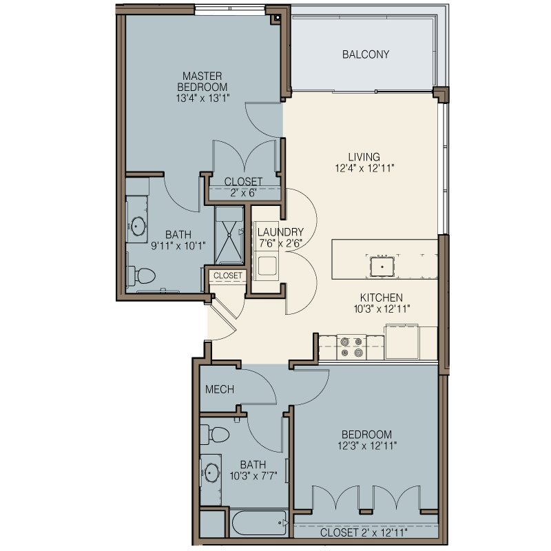2 Bedrooms 2 Bathrooms Apartment for rent at The Easton in Milwaukee, WI