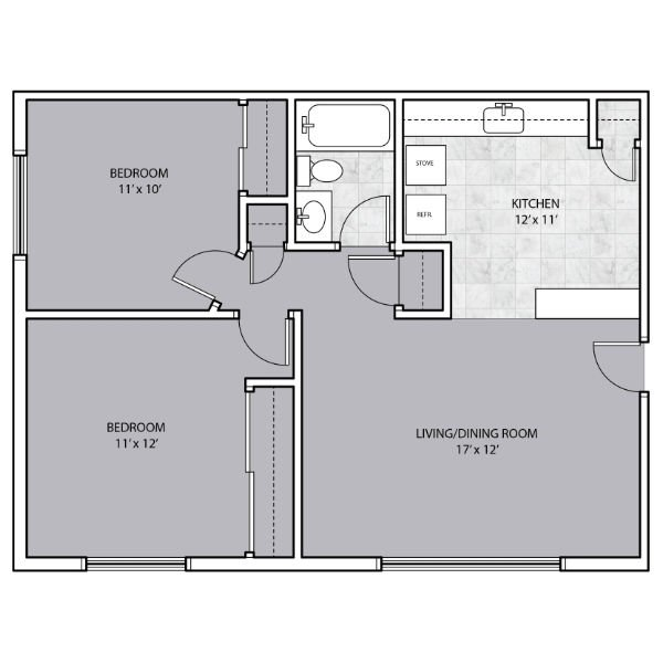 2 Bedrooms 1 Bathroom Apartment for rent at Grant Street Apartments in West Allis, WI