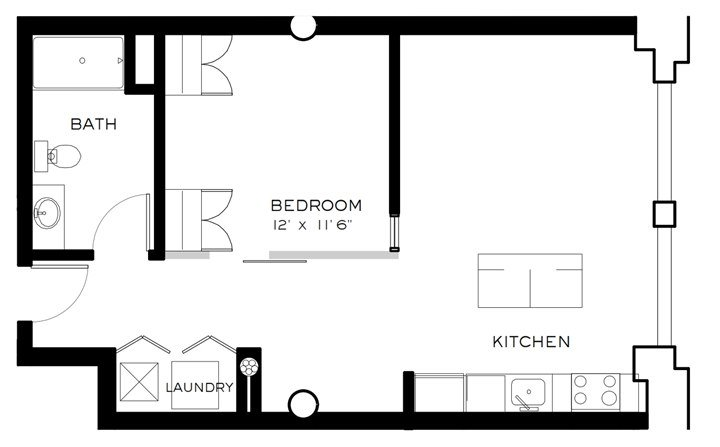 1 Bedroom 1 Bathroom Apartment for rent at Brix Apartments Lofts in Milwaukee, WI