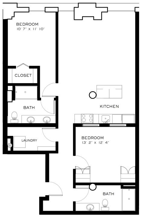 2 Bedrooms 2 Bathrooms Apartment for rent at Brix Apartments Lofts in Milwaukee, WI