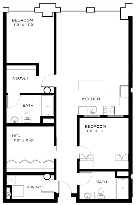 3 Bedrooms 2 Bathrooms Apartment for rent at Brix Apartments Lofts in Milwaukee, WI