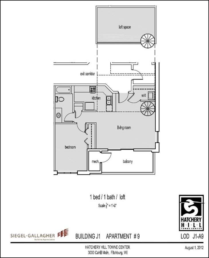 1 Bedroom 1 Bathroom Apartment for rent at Hatchery Hill Penthouse Apartments in Fitchburg, WI