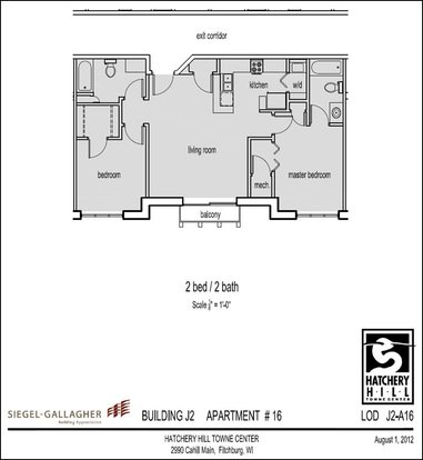 2 Bedrooms 2 Bathrooms Apartment for rent at Hatchery Hill Penthouse Apartments in Fitchburg, WI