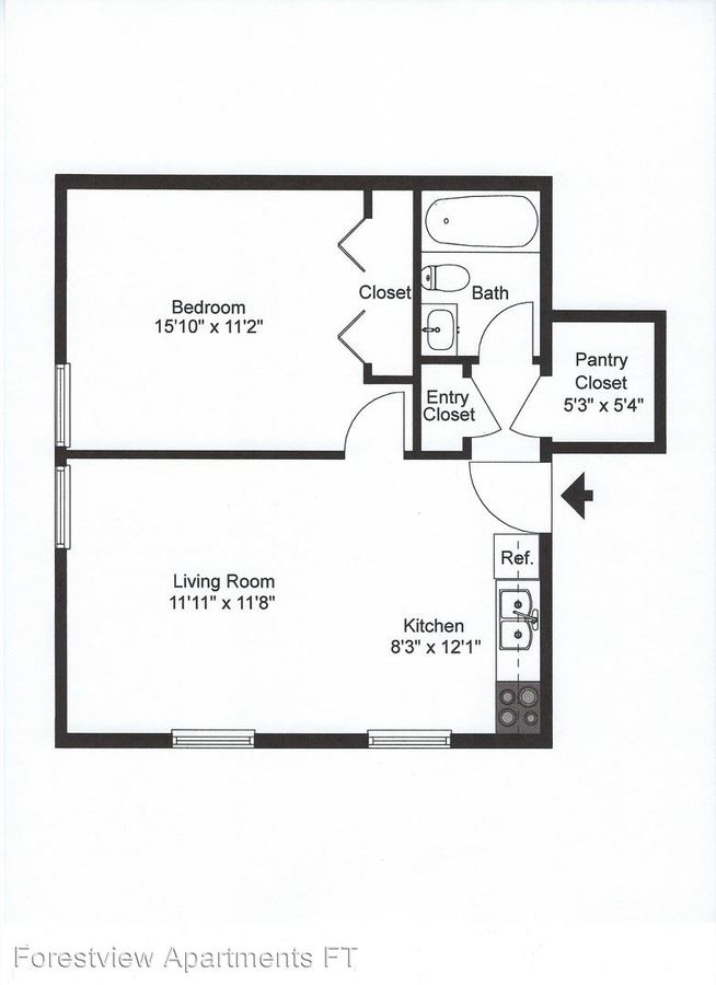 1 Bedroom 1 Bathroom Apartment for rent at 1516 16th Ave. Se in St Cloud, MN
