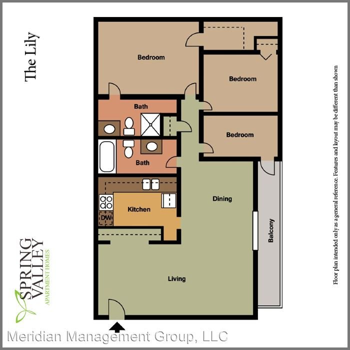 3 Bedrooms 2 Bathrooms Apartment for rent at 2823 Misty Waters Dr in Decatur, GA