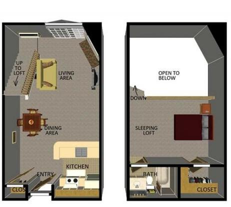 1 Bedroom 1 Bathroom Apartment for rent at Ridgewood Trails in Madison, WI