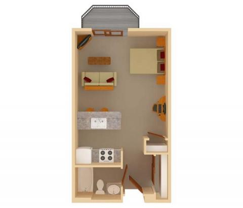 Studio 1 Bathroom Apartment for rent at Ridgewood Trails in Madison, WI