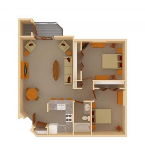 2 Bedrooms 1 Bathroom Apartment for rent at Ridgewood Trails in Madison, WI